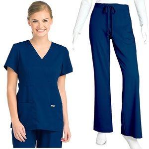 Grey's Anatomy Navy blue Scrub set Large Petite